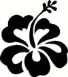 """4"""" Hibiscus Flower Sticker"""