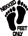 Nekked Feet Only Boat Sticker