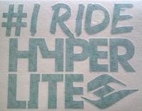 I Ride Hyperlite Die-Cut Sticker