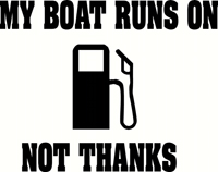 Boardstop - My Boat Runs On Gas Sticker