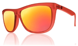 Electric Sunglasses - Tonette - Reds/Grey Fire Chrome Lens