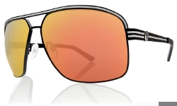 Electric Sunglasses - Vegus - Matte Black/Grey Fire Chrome