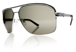 Electric Sunglasses - Vegus - Platinum Black/Grey Fire Chrome