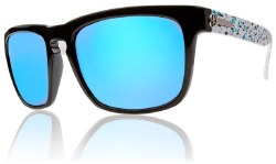 Electric Sunglasses - Knoxville Powder Splatter / Grey Blue Chrome Lens