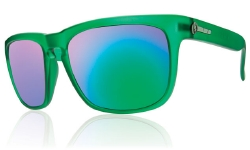 Electric Sunglasses - Knoxville Dollar Bill/Grey Green Chrome Lens
