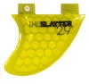 "2.9"" Slayter Yellow Fiberglass Bottom Mount Wakesurf Fin"