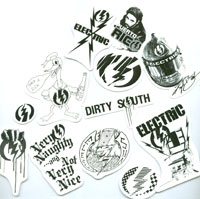 Electric Sunglasses - (6) Sticker Pack