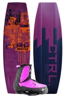 CTRL - 2013 The Hustle 141 Finless w/Purple Hustle Wakeboard Package