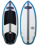 Doomswell - 2016 Drone White / Blue Rails Wakesurf