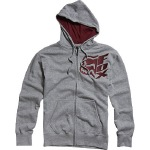Fox - Vertical Zip Front Fleece Hoodie