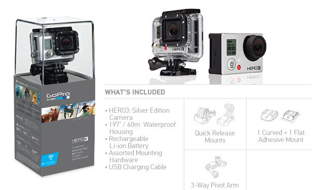Buy GoPro Cameras - GoPro - Hero3 Silver Edition