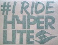 I Ride Hyperlite Die-Cut Sticker
