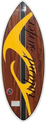 Inland Surfer - 4-Skim Black Pearl - Tri Fin WakeSurf board