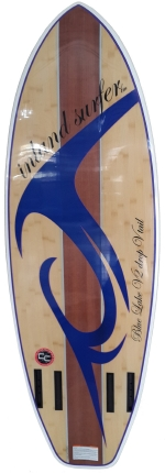 Inland Surfer - Blue Lake Woody V2 Quad Fin WakeSurf board