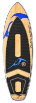 Inland Surfer - Blue Lake Woody V2 Quad Fin WakeSurf board