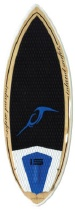 Inland Surfer - 4-Skim Black Pearl - Tri Fin WakeSurf board