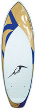 Blue Lake Woody V2 Quad Fin WakeSurf board