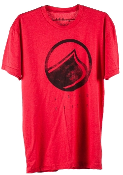 Liquid Force - Logo Spray Red Tee Shirt