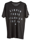 Liquid Force - Stamp Black Tee Shirt