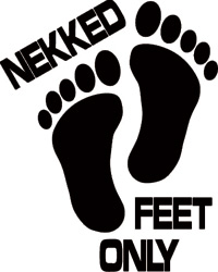 Boardstop - Nekked Feet Only Boat Sticker