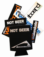 Not Beer Koozie and Alliance Sticker Pack