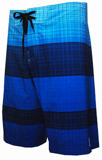 Reef - My Name Is Plaid/Blue - Men's Boardshort
