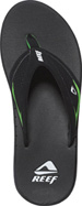 Reef Sandals - SpringTide Black/Lime Green - Men's Sandal