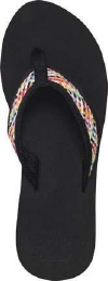 Reef Sandals - Braided Cushion Black/Multi - Women's Sandal