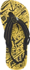 Reef Sandals - Ahi Yellow Monsters - Kid's Sandal