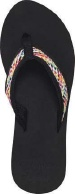 Braided Cushion Black/Multi - Women's Sandal