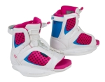 Ronix - 2014 August Wakeboard Bindings - White/Pink-a-Dot