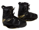 Ronix - 2014 Faith Love Hope Wakeboard Bindings - Caviar / Golden