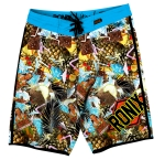 Blue Hawaiian tight & Right Boardshort Tropical Swirl