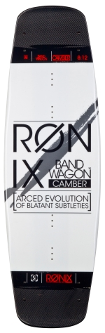 Ronix - 2014 Bandwagon Air Core Camber Small Wakeboard - Carbon/Ghost