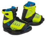 2015 Vision Boy's Kids Wakeboard Bindings - Neon Butter/Azure