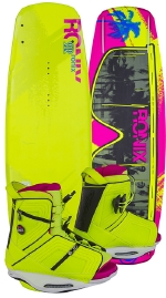 Ronix - 2015 Quarter Til Midnight 130 w/Halo Wakeboard Package