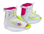 Ronix - 2016 August Girl's Kids Wakeboard Bindings - White / Flamingo