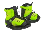 2016 Vision Boy's Kids Wakeboard Bindings - Psycho Green / Neon