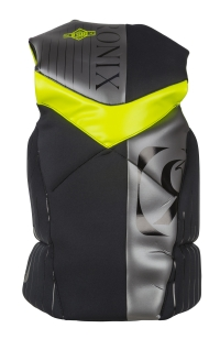 2016 One Capella Front Zip CGA Vest (Black/Optic Yellow)
