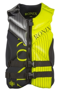 Ronix - 2016 One Capella Front Zip CGA Vest (Black/Optic Yellow)