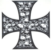 Boardstop - Skull and Cross Sticker