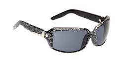 Spy Sunglasses - Zoe Sunglasses -  Black w/Silver Brocade/Grey