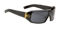 Spy Sunglasses - Haymaker - Black w/White Texture on Temples/Grey