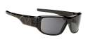 Spy Sunglasses - Lacrosse Sunglasses - Black w/Colourful Striped Temples/Grey
