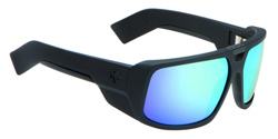Spy Sunglasses - Touring Sunglasses - Matte Black/Grey w/Blue Multilayer