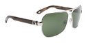 Weller Sunglasses - Silver w/Black Tort/Grey Green